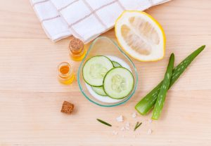7 Things to Know About Preservatives in Homemade Products - Homemade skin care products made with lemon, cucumber and aloe vera