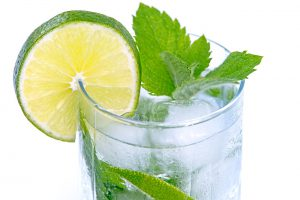 How to Make Organic Sulfur Taste Better - slices of lime in a glass of water