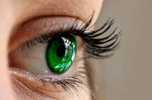 a beautiful green eye